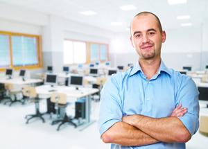 K-12 IT technician in computer lab